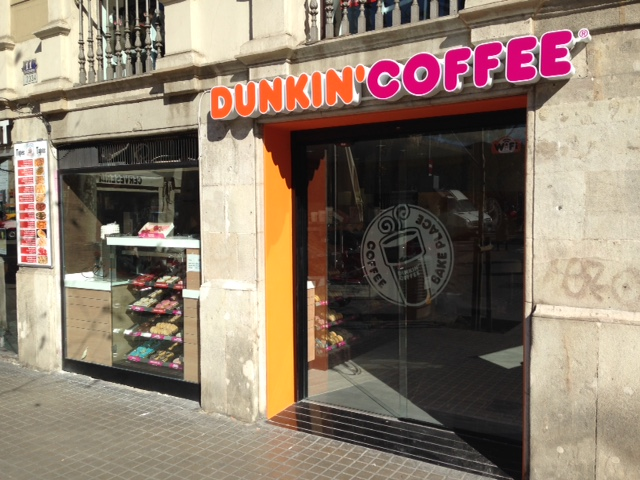 Puerta automática UP-LATERAL sin zócalo inferior para Dunkin Coffee